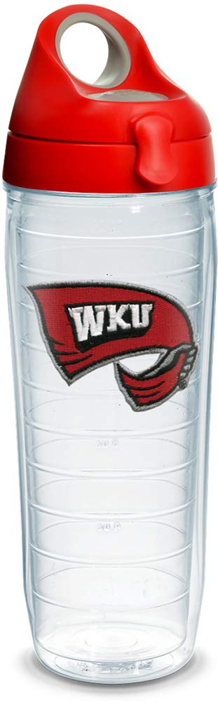 Tervis 1238048 NCAA Western Kentucky Hilltoppers All Over Insulated Tumbler with Emblem and Lid 24 oz Clear