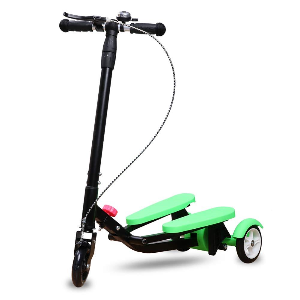 スクーター 子供のための非電動スクーター、調節可能なTバーハンドル、フラッシュホイール、安全ブレーキ付きワイドペダルスクーター B07M95KK9H