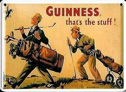 Carte Postale Mini Enseigne M/étal Publicit/é Golfeur Guinness