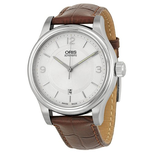 Oris Classic Date Silver Dial Brown Leather Mens Watch 01 733 7594 4031-07 5 20 12