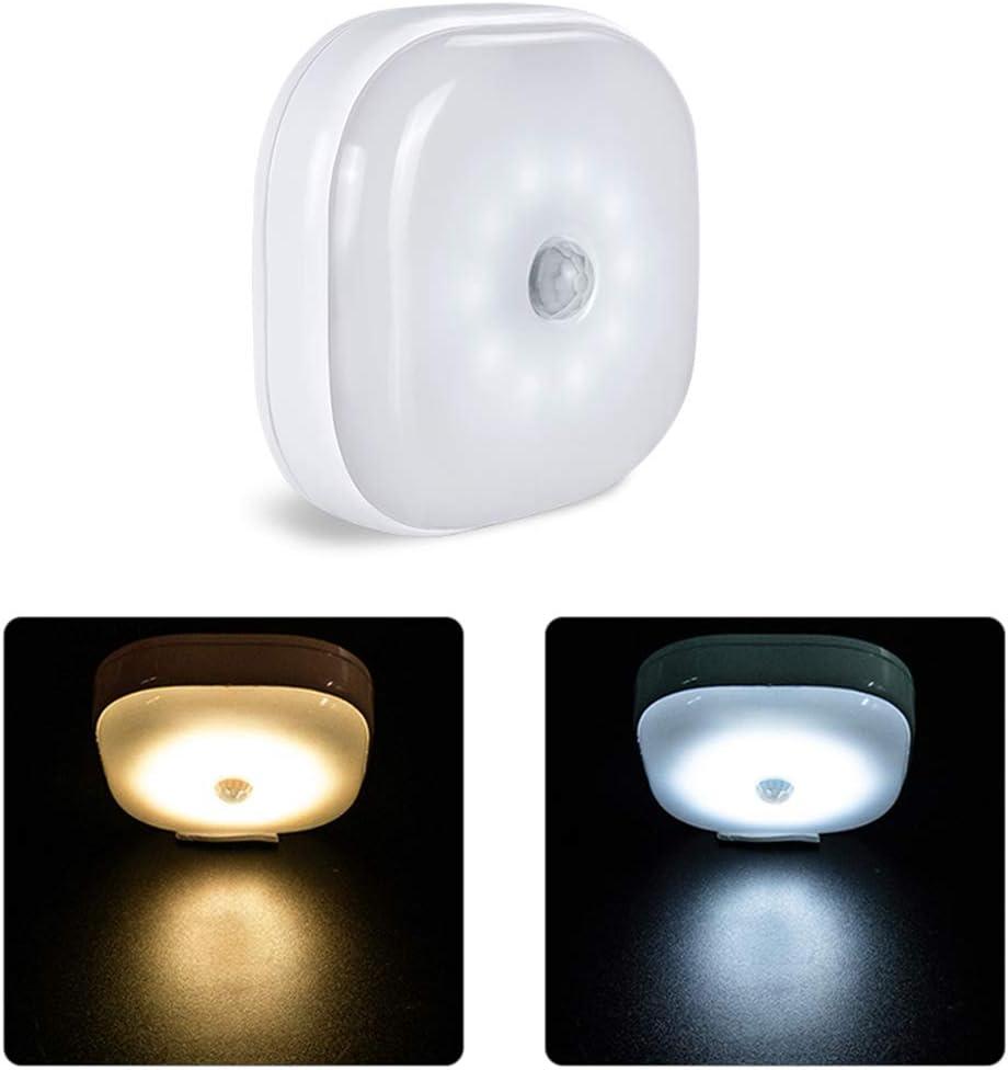 Gaoominy Led Pir Lampada da Parete Con Sensore di Movimento A Led Illuminazione Notturna A Induzione A Batteria Luminarias Cabinet Kitchen Stairs Lighting Caldo Colore Della Luce Bianca