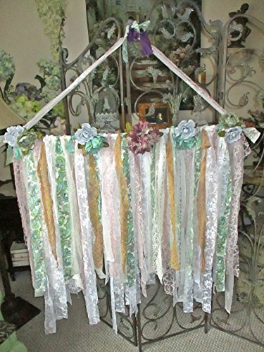 French Garland, French Banner, Boho, Vintage, Eclectic, Lace and Ribbons, Upcycled, Shabby Chic,