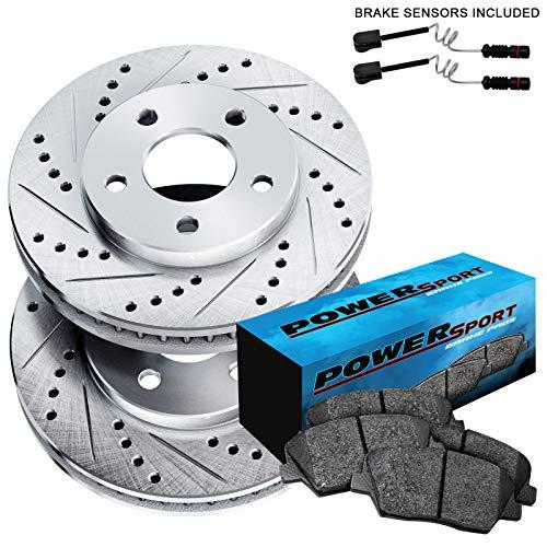 Fit Mercedes-Benz ML500, ML350 Front Drill Slot Brake Rotors+Ceramic Brake Pads