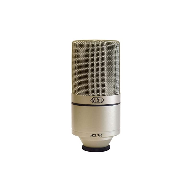 MXL 990 Condenser Microphone with Shockm