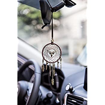 Amazon Mini White Dream Catcher For Car Rear View Mirror Awesome Dream Catcher To Hang In Car