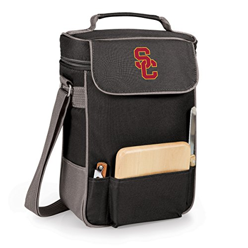 NCAA USC Trojans Duet Insulated Wine and Cheese Tote with Team Logo (Tote Duet)