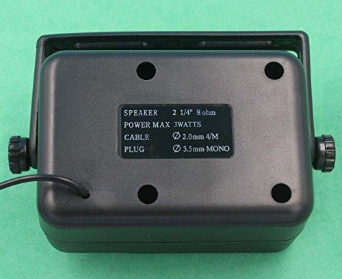SUNDELY® CB Radios Mini External Speaker Police Scanner NSP-150v KES-3 SH2P4 Ham for Kenwood Motorola ICOM Yaesu Uniden Relm Molex Connector Radio with 3.5mm Mono Jack