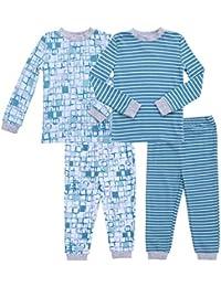 Boy's 2-Pack Pajama Set Baby Clothes Pjs Sleepers Footless Sleepwear
