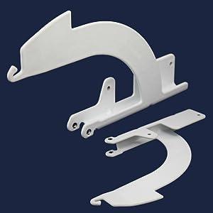 KitchenAid 4161592 Dishwasher Door Hinge Support Bracket Genuine Original Equipment Manufacturer (OEM) Part