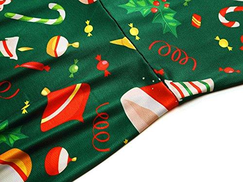 HUHOT Gifts Sleeveless Dresses Dress Party Santa Womens Claus Printed 2 17058 Xmas Ugly Christmas rw5YUq8xCr