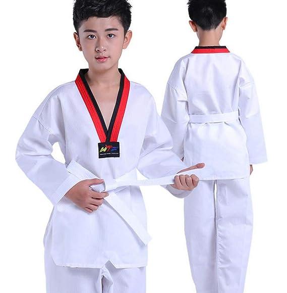 dududrz Traje De Taekwondo Hombre Dobok Taekwondo V Cuello ...