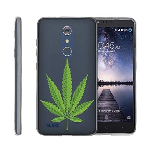 ZTE MAX XL N9560 Case, URAKKI TPU CLEAR Slim Fit Soft Skin Phone Cover ZTE MAX XL N9560