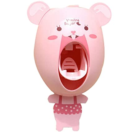 bebé niños creativos dibujos animados pasta de dientes automático dispensador, cepillo de dientes pasta de