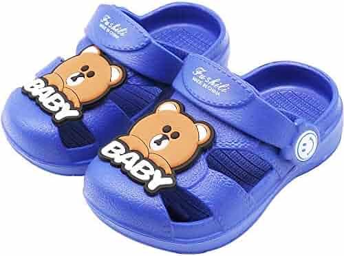 8f75d3791653 Techcity Kids Boys Girls Comfort Clogs Lightweight Slip On Water Pool Garden  Shoes Cute Summer Beach