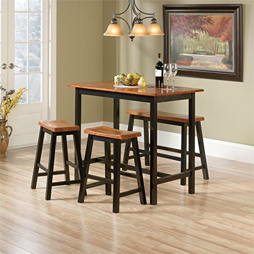 Sauder Woodworking Edge Water 4 Piece Counter Height Dinette Set