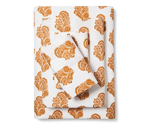 Xhilaration Microfiber Sheet Set, Gold Paisley