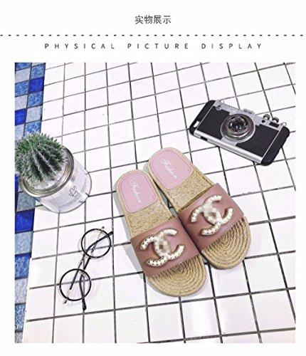 Outdoor Summer Sandalias Y Word Platform Home Drag De Pink Mujer Estilo Zapatillas Europeo Indoor JIA A 40 C Bathroom And HONG Explosiones 38 qAwaYZO