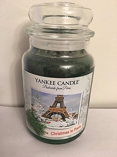 Yankee Candle Postcards From Paris CHRISTMAS IN PARIS Large Jar Candle ()