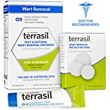 Terrasil® Wart Removal - Safe for Sensitive Skin, Dr. Recommended, 100% Guaranteed, All-natural, Pain-free, Acid-free, Patented Treatment for common warts, facial warts, genital warts, anal warts, and flat warts, 14g tube + 30 Protective Pads (Combo)