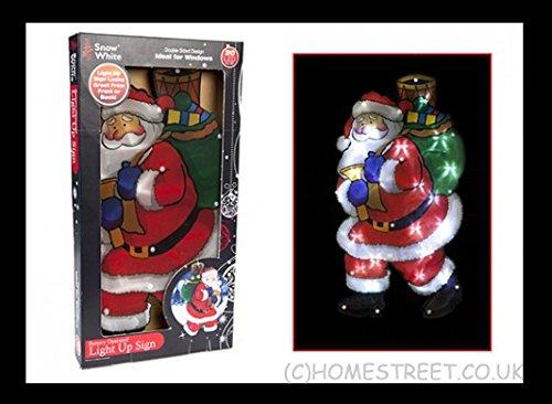Homestreet Xmas Navidad Cartel Iluminado Papá Noel con 20 ...