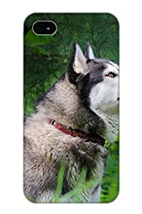 Durable Case for the iPHONE 4/4S–Eco-friendly embalaje (Animal Husky Dog)