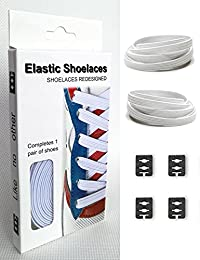 Xcivi Flat Elastic Shoe Laces - Never Tie Laces Again for Kids and Adults