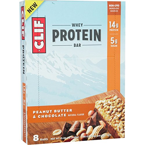 Clif, Bar Protein Whey Peanut Butter Chocolate, 1.98 Ounce, 8 Pack