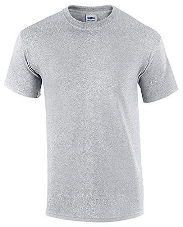 Gildan Heavy Cotton Adult T-Shirt, Sport Grey, Large Size: Large Color
