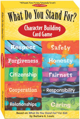 What Do You Stand For? Character Building Card Game (Character Education Activities For High School Students)