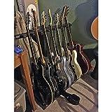 MyGift 7 Guitar Black Metal Padded Folding