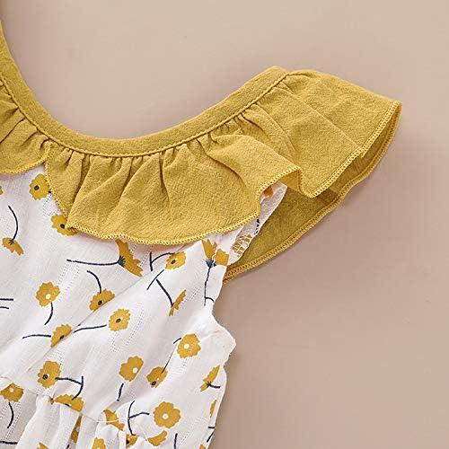 Toddler Baby Girl Cotton Dress Ruffled Floral Skirt Princess Party Dresses Sundress