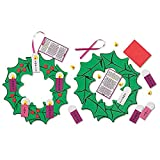 Hanging Advent Wreath Craft Kit, 10-1/2'' Dia, 24pk.