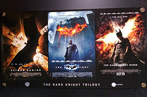 - Batman Trilogy The Dark Knight Rises Begins Original AMC Limited Edition Single Sided Rolled 39.5x 21.5 Movie Promotional Poster 2012
