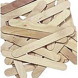 Natural Jumbo Wood Craft Sticks - 100 pcs