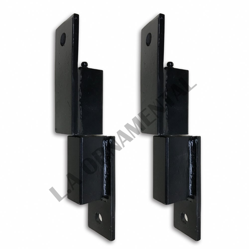 "5"" Heavy duty Steel Square Gate Hinge wall mount Driveway ball bearing (Pair)"
