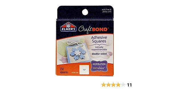 250 Squares Permanent Elmers 250-Pack CraftBond Adhesive