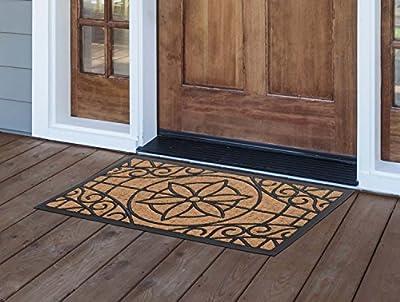 MILLIARD Eco-Friendly Decorative Coco Coir Outdoor Entrance Doormat - 18in.x30in.
