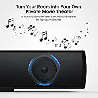 DBPOWER Soundbar 29 inch Wired and Wireless Home Theater Bluetooth TV Audio Speaker with 3D Stereo Surround Sound for TV/PC/Smartphone, Remote Controlled & Wall-mountable by DBPOWER