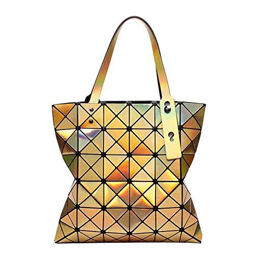 Variété Laser Bandoulière à 6 Sacs Femmes Géométrique Bag Main Sacs 6 Pliage à Lingge Gold Sacs CY Sac Bzx6wqvR