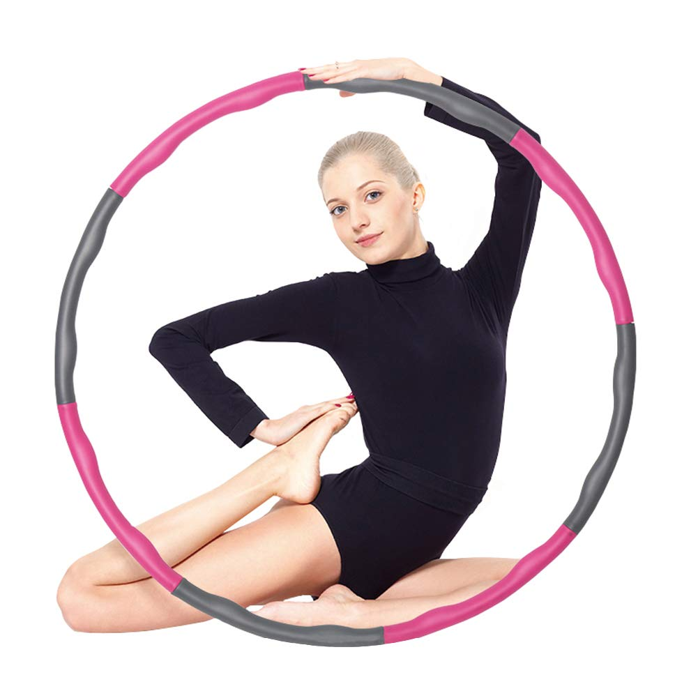 Jekei Fitness Exercise Weighted Hula Hoop, Lose Weight Fast by Fun Way to Workout, Fat Burning Healthy Model Sports Life, Detachable and Size Adjustable Design