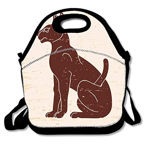 Durable Lunch Box Egyptian Sphynx Cat Lunch Boxes Waterproof For Kids -