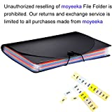 A4 Expanding Files Folders with 12 Pockets, Letter