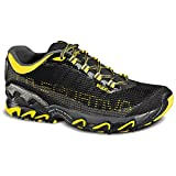 La Sportiva Wildcat 3.0 Trail Running Shoe – Men's Black/Yellow 45.5
