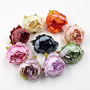 FLOWER 15pcs/lot 5cm Peony Head Silk Artificial Wedding Decoration DIY Garland Scrapbook Gift Box (Champagne) 3