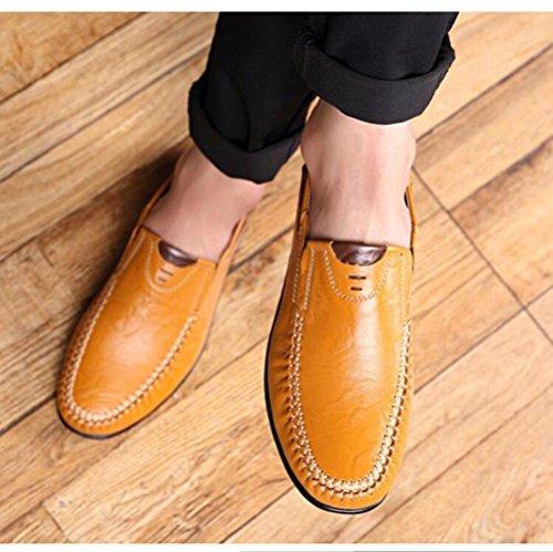 Sólido Bean Grande Color Extra Código de Zapatos Casuales de Zapatos Casual Hombres los Amarillo qvI5HPc