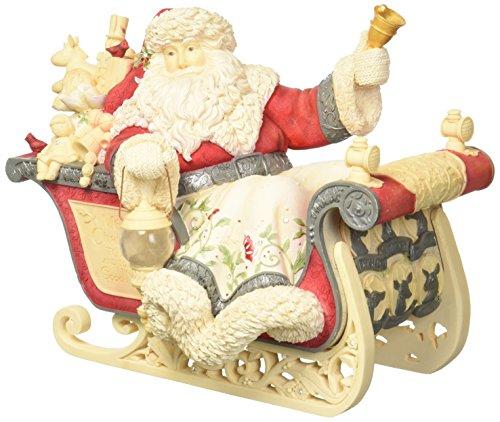 Enesco Heart of Christmas Masterpiece Santa with Sleigh Lighted 4057643 Figurine