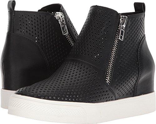 Steve Madden Women's Wedgie-P Sneaker, Black, 7 M US (Steve Madden Leather High Tops)