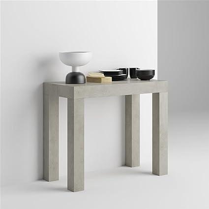 Mobilifiver Tavolo Consolle Allungabile First, Cemento, 90 x 45 x 75 ...