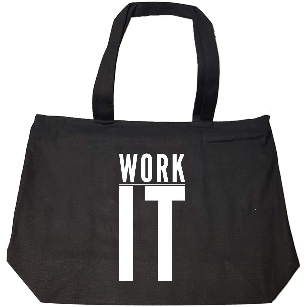 Work It White Line - Fashion Zip Tote Bag