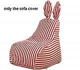 Quwei Bean Bags Chair Cartoon Rabbit DIY Comfortable Mini Sofa Indoor/Outdoor Soft Floor Cushion for Kids (red)